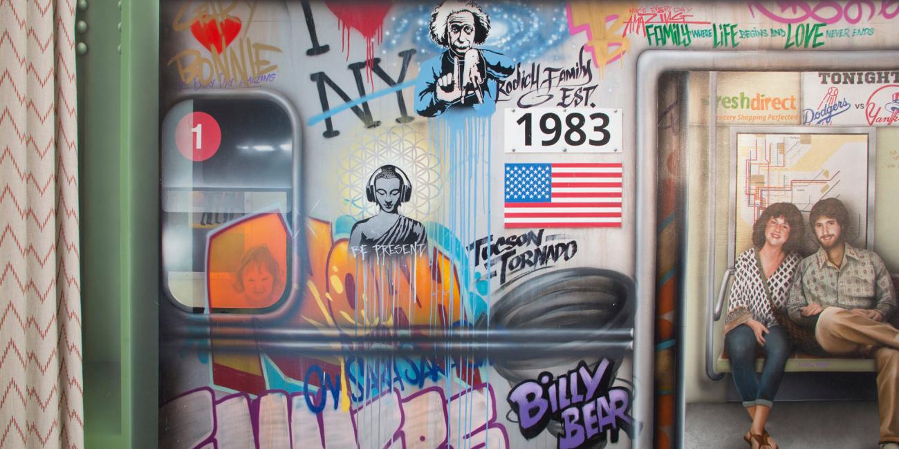 Subway Graffiti House Mural