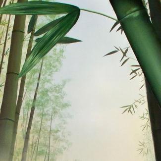 Bamboo Stairway to Heaven Mural