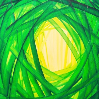 Abstract Green Fine Art
