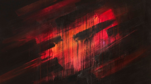 Red Abstract Fine Art
