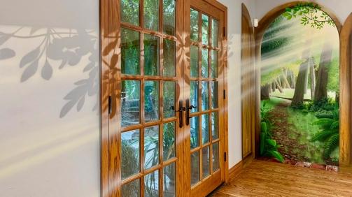 Secret Forest and Doorway Mural