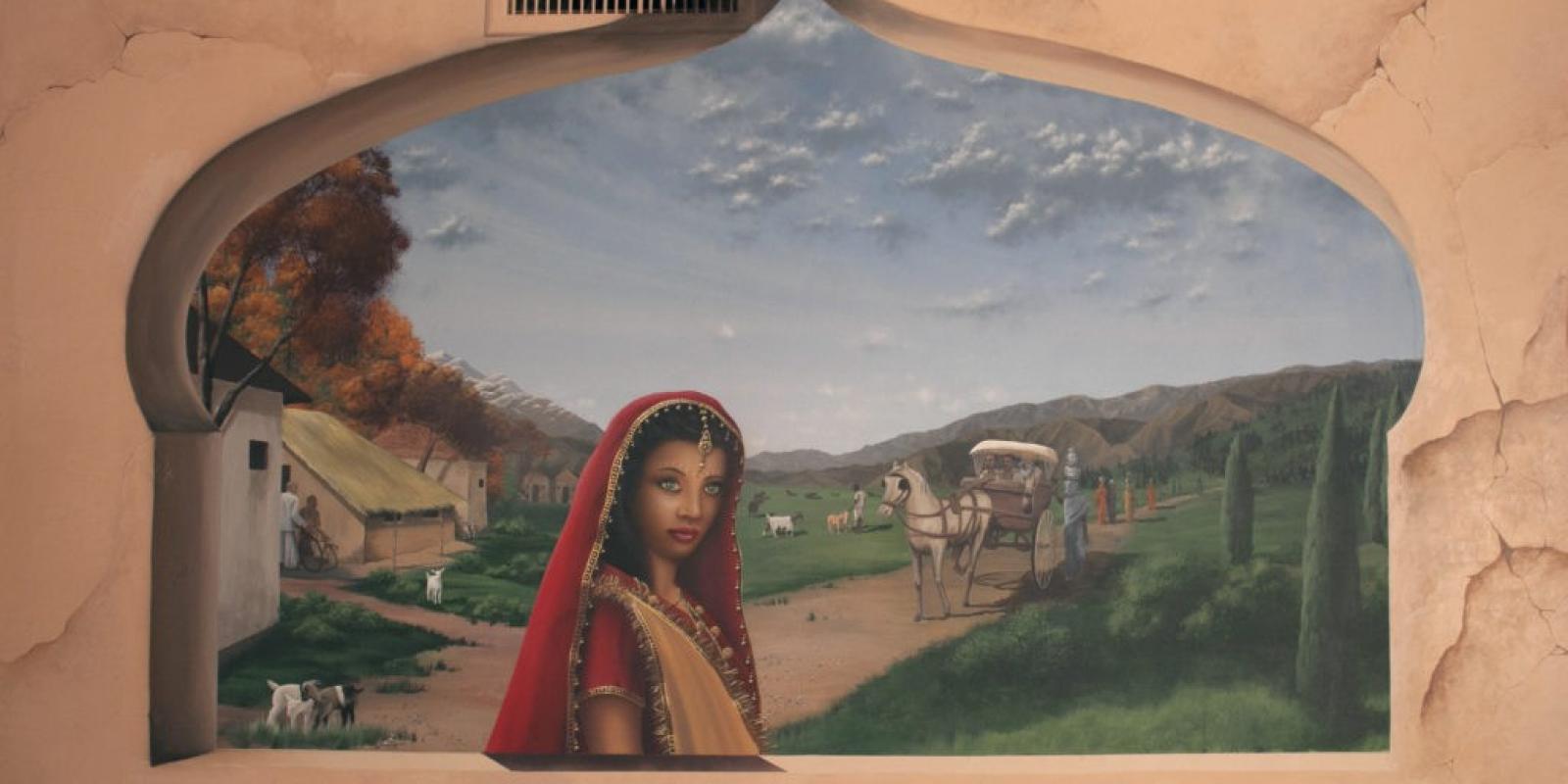 Bollywood Restaurant Mural Art