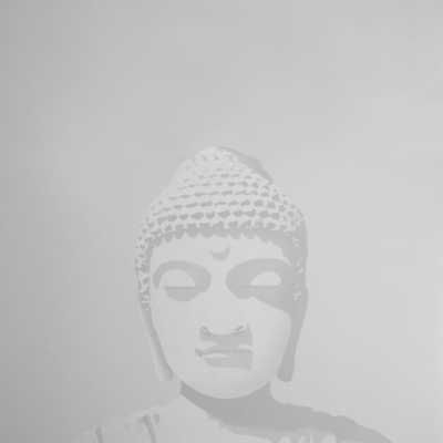 Duality of the Buddha Day Light to Black Light Art