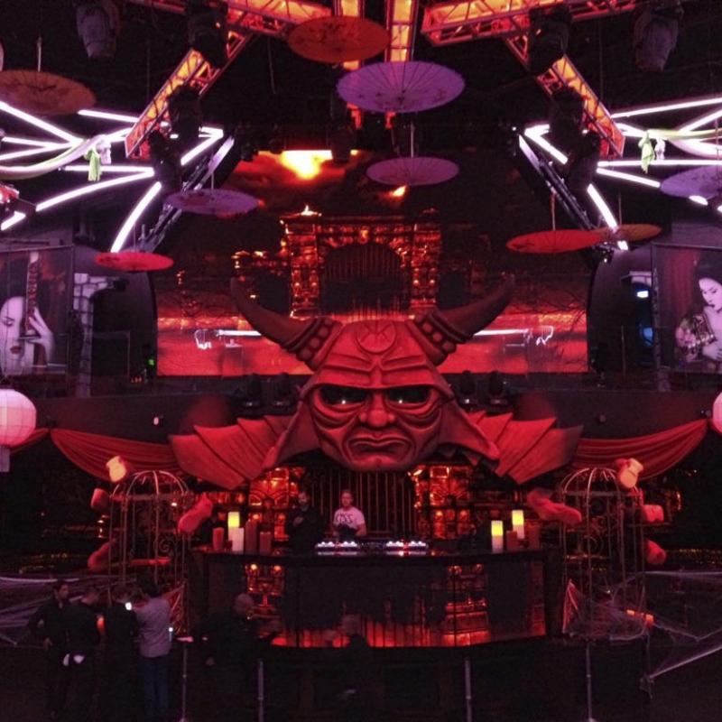 Hakkasan Vegas Halloween Party Art Black Light