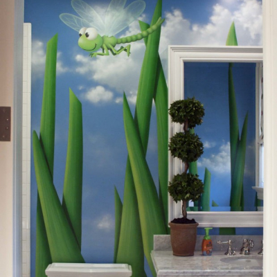 Kids Playroom Bugs Mural Art