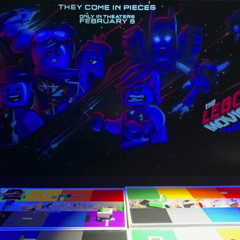 Lego Movie Part 2 Black Light Mural