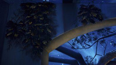 Wall Closeup Black Light - Mighty Oak Tree Black Light Mural