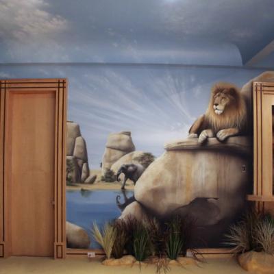 Safari Playroom Kids Mural