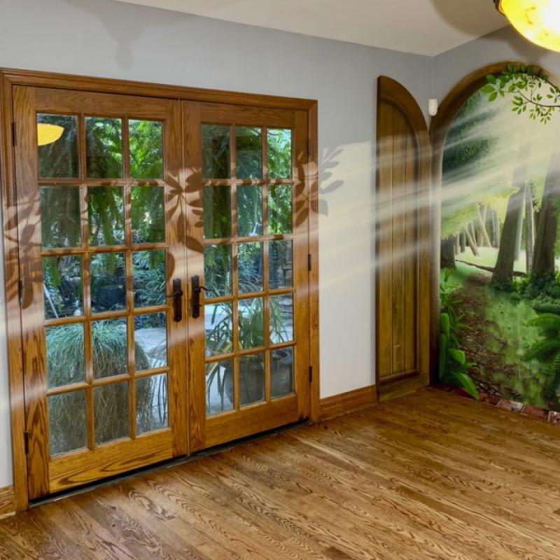 Open Door Secret Garden Indoor Mural
