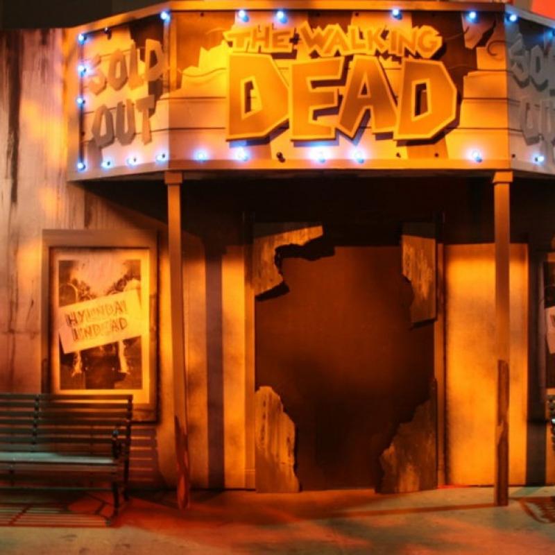 The Walking Dead Comic Con Party Art