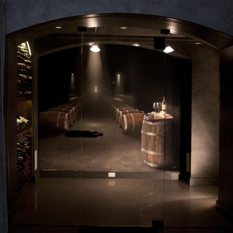 Wine Cellar Mural - Large Barrels